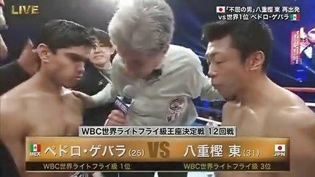 格瓦拉KO日本名将八重樫东(WBC拳王爭霸战)