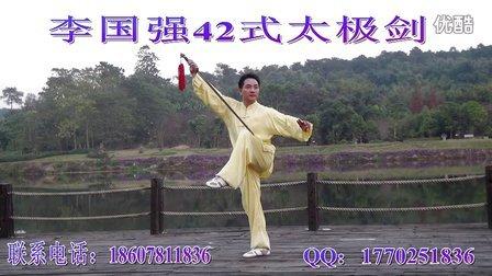 李国强42式太极剑正面演练2015最新版本