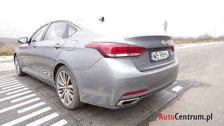 2014 现代捷恩斯3.8 V6 GDi中大型轿车 欧洲试驾评测展示