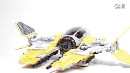 乐高/Lego Star Wars 75038 Jedi Interceptor Build and review