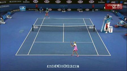 2015澳大利亚网球公开赛女单R3 科维托娃VS凯斯 (自制HL)