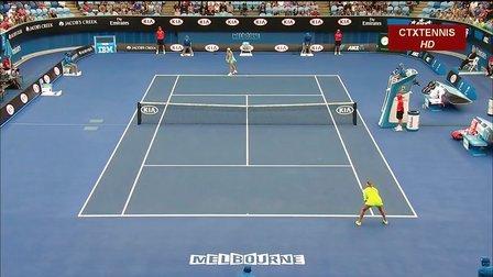 2015澳大利亚网球公开赛女单R2 阿扎伦卡VS沃兹尼亚奇 (自制HL)