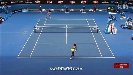 2015澳大利亚网球公开赛女单R4 小威廉姆斯VS穆古鲁扎 (自制HL)