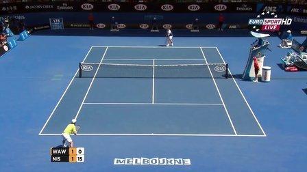 2015澳大利亚网球公开赛男单QF 瓦林卡VS锦织圭 HL
