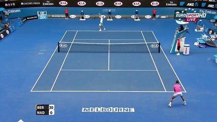 2015澳大利亚网球公开赛男单QF 纳达尔VS伯蒂奇 HL