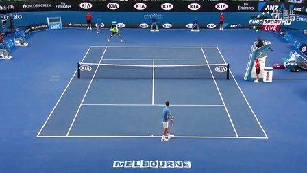 2015澳大利亚网球公开赛男单QF 德约科维奇VS拉奥尼奇 HL