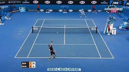 2015澳大利亚网球公开赛男单SF 穆雷VS伯蒂奇 HL