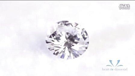 英国恒远钻石(心音钻石) Heart In Diamond  白色圆形切工 White Heart In Diamond Round Cut