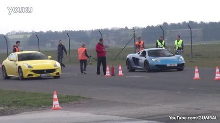 直线加速McLaren 12C  vs Ferrari FF vs 991 Turbo