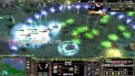 【梅西解说】又见对拆基地:3圣剑影魔飞机 vs 5跳刀推进