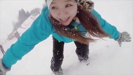 小梦滑雪板教练来了 脆脆的温泉豆芽拉面