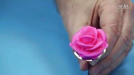 奶油霜裱花教程之卷边玫瑰演示