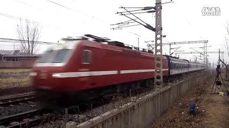 2014年春运京广铁路涿州冠云桥拍车——T175次(SS7E0129)