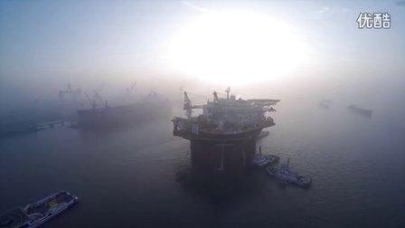 轮船下水出港宣传片 MF150116