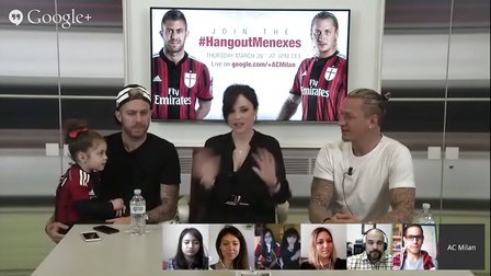 #HangoutMenexes# AC Milan Official(亮点是小小梅Maella)