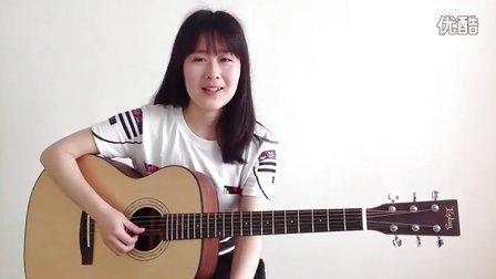 早安晨之美 - 卢广仲 - 呆萌妹子Nancy吉他教学 吉他教程