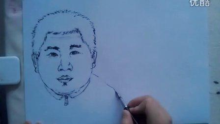 """人物头像速写画法""""根""""李老师学画画"""