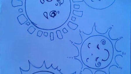 """儿童画太阳的画法1""""根""""李老师学画画"""