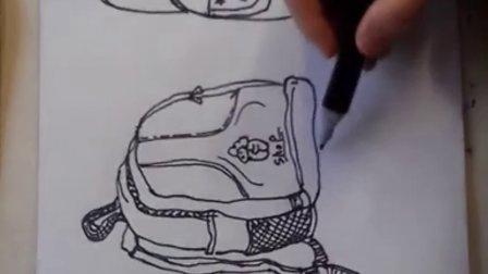 """儿童画画书包粉画1""""根""""李老师学画画"""