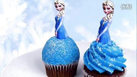 冰雪奇缘cupcake杯子蛋糕