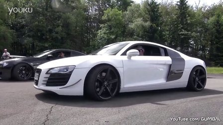 直线加速Audi R8 V8  vs BMW M6 V10 vs Audi RS4