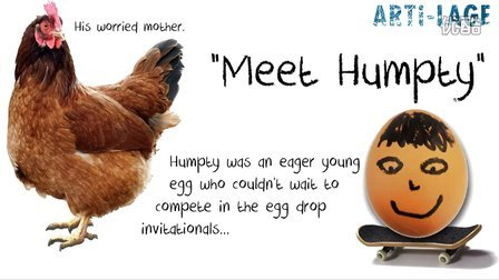 Humpty鸡蛋跌落视频