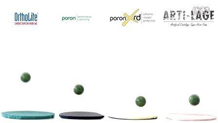 4种材料铁球吸震实验