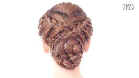 韩式盘发气质美女蝎子辫 非常有气质的一款发型