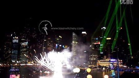 新加坡国庆日-激光楼体投射