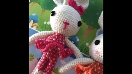 小辛娜娜编织2015第76集小兔子玩偶(腿部身体的钩法)76花样图片