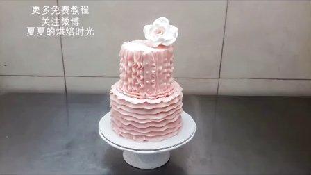 【微博@夏夏的烘焙时光】韩式裱花,蛋糕裱花,波浪围边