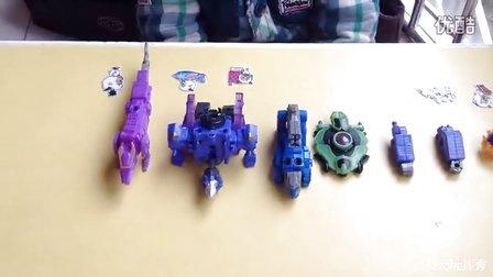 巨神战击队裂地战击王战狼士苍龙士虎吼士巨甲士4个合体-天天玩具秀