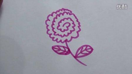 牡丹花怎么画?牡丹花简笔画视频教程,老徐出品(21)