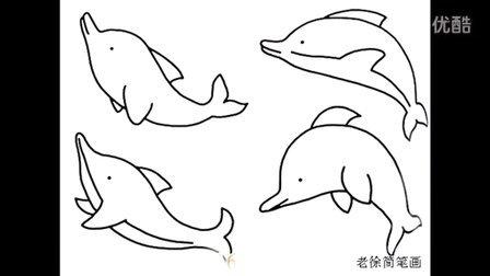海豚简笔画图片大全(视频版)老徐出品(31)