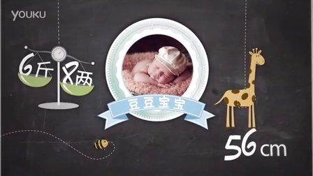 《宝宝动物秀》艺术照电子相册 宝宝百天 满月视频 儿童周岁成长  MV制作