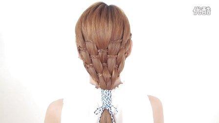 竹篮千股辫马尾造型