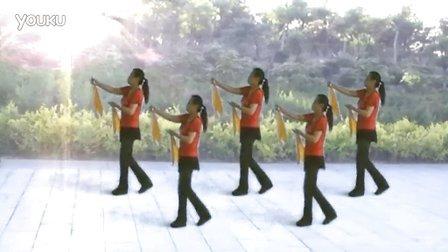韩黎纱广场舞快板舞十送红军正反面演示及口令