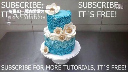 韩式裱花 玫瑰裱花 奶油霜蛋糕