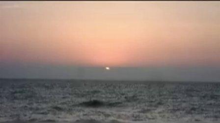 山东日照海上观日出