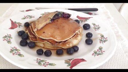 美国人最喜欢的早餐 - 蓝莓松饼 Blueberry Pancake
