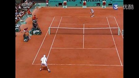 2005法国网球公开赛男单R3 萨芬VS费雷罗 (自制HL)