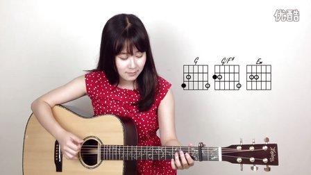 知足 - 五月天  妹子Nancy 吉他教学 吉他教程