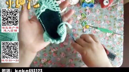 【小脚丫】(沙滩公主鞋3)女宝宝可爱毛线鞋的钩法婴儿毛线鞋宝宝毛线编织鞋毛线编织教钩针作品