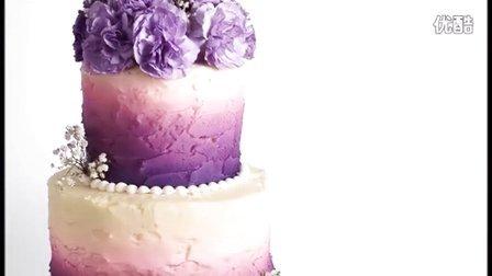 创意翻糖蛋糕 双层喷绘彩虹蛋糕制作教程