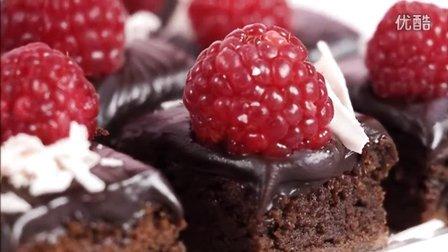 创意翻糖蛋糕 水果巧克力布朗尼蛋糕制作教程