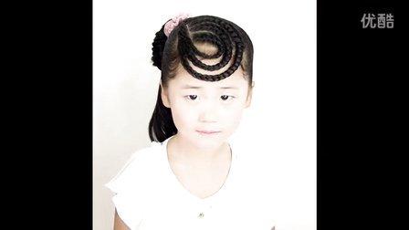 儿童编发 时尚可爱环形刘海编发
