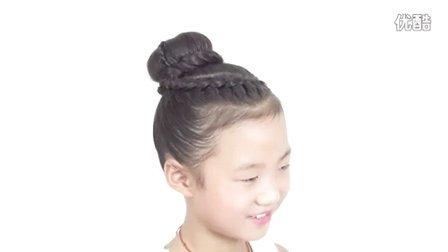 儿童编发 非常精致的儿童丸子头编发