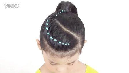 儿童编发 超有气质的彩带儿童编发