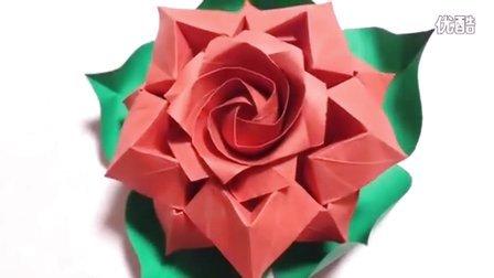 『佐藤组合玫瑰』折纸教程
