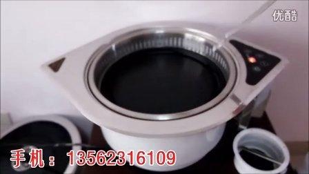 商用韩国下排烟光波电烧烤炉,韩式红外线电烤肉炉,自助嵌入式烧烤炉